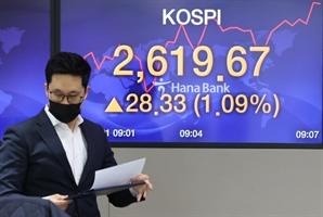[마감시황] 이틀 만에 다시 최고치…기관 매수세에 코스피 2,634.25로 마감