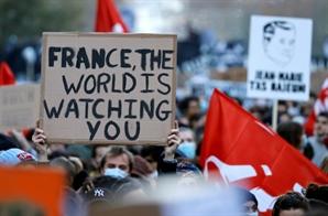 프랑스 '경관 사진 유포 금지법' 저항 거세자…여당, 수정 시사