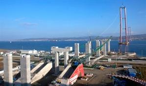 대림산업·SK건설, 세계 최대 터키 '차나칼레대교' 핵심공정 돌입