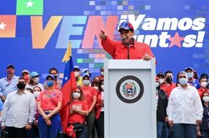[사진] 베네수엘라 총선 앞두고 유세…좌파만 독무대