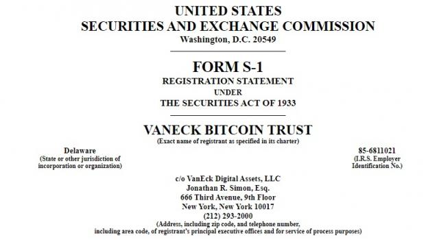 반에크, 비트코인 ETF 재추진 … SEC에 신청서 접수