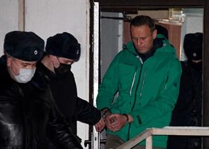 러 법원, 독극물 치료 후 귀국한 '푸틴 정적' 나발니 구속 판결