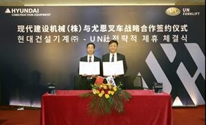 현대건설기계, 중국 지게차 전문제조사와 OEM 생산 제휴