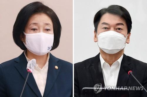 박영선과 안철수 대결 … 41.9 % vs. 41.4 % 초박형