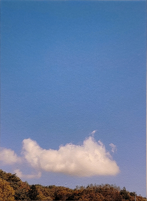 '기업인 이전에 사진 작가'...구름에 마음 담은 송영숙 개인전