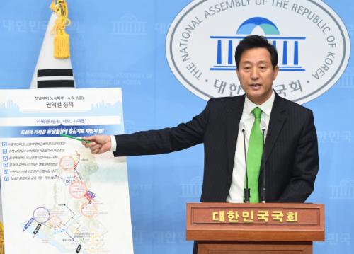 '동북권에 종합환승센터·돔구장·지하복합몰'…오세훈, 권역별 세부 공약 발표