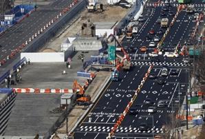 [사진] 6일부터 광화문광장 서쪽도로 폐쇄…차량 동쪽으로만 통행