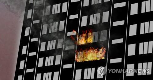 (종합)서울 성북구 아파트서 불…9명 구조돼 병원으로 이송