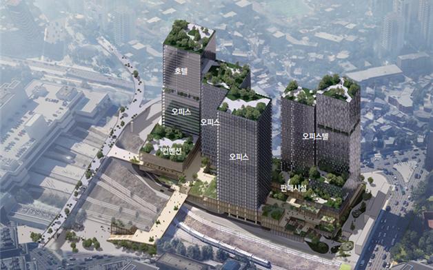 서울역 북역 지역 개발 계획 확정 … 유휴 철도 부지에 최대 40 층의 호텔과 주택을 갖춘 복합 단지 조성