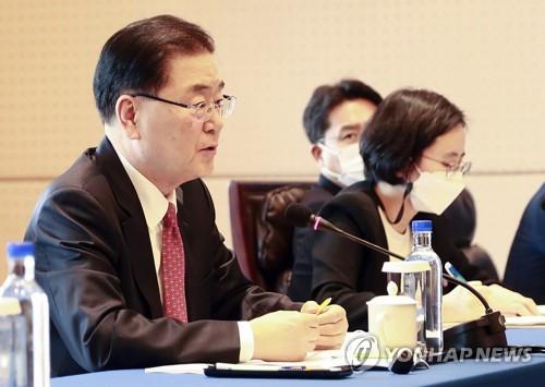 정의용 '시진핑 조기 방한 추진…中, 한반도 비핵화 지지'