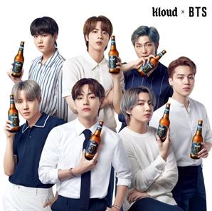 """""""이거 방탄 맥주야""""…BTS, 클라우드 광고모델 됐다"""