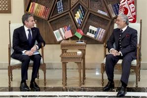 블링컨 美 국무 예고없이 아프간 방문…현지 지도자들에게 미군 철수 결정 배경 설명