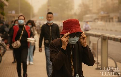 中 베이징 이번엔 황사비 습격…올해만 세번째 황사경보