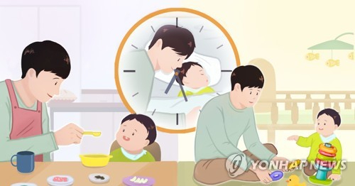 3월 육아전담 남성 1만3,000명…1년전보다 6,000명 늘어 '역대 최다'