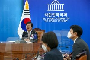 """박병석, 첫 韓-EU 의장 회담 """"유럽 백신 한국 도입 협조해 달라"""""""