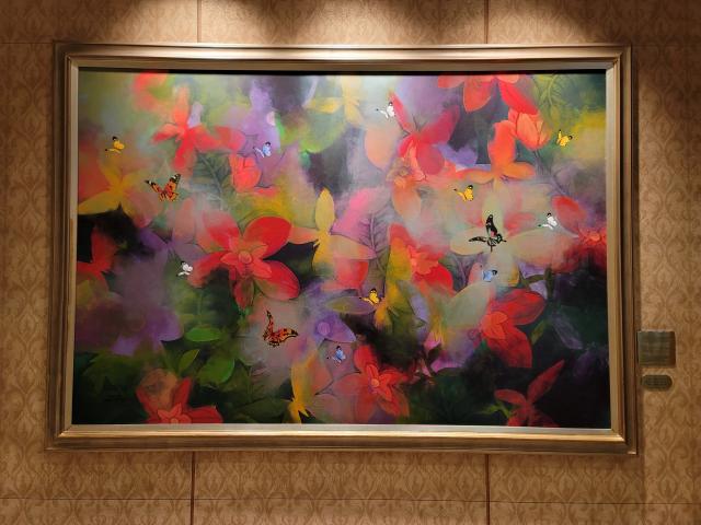 [로비의 그림] 소공동 롯데호텔-나무 구름위 학의 무리, 불로초 꽃길엔 사슴 한쌍…'이곳이 仙界'