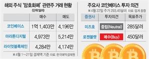 채굴株 하루에만 11% 뚝…'코인 홀릭' 서학개미 덜덜