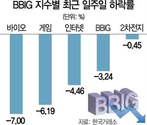 흔들리는 고PER 성장주…BIG 기업 '미끄럼'