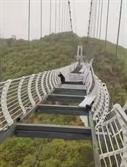 [영상] 시속 144km 강풍에…中 유리다리 '와장창'