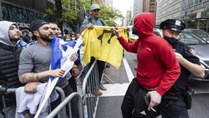 이-팔 지지자들 뉴욕서도 충돌