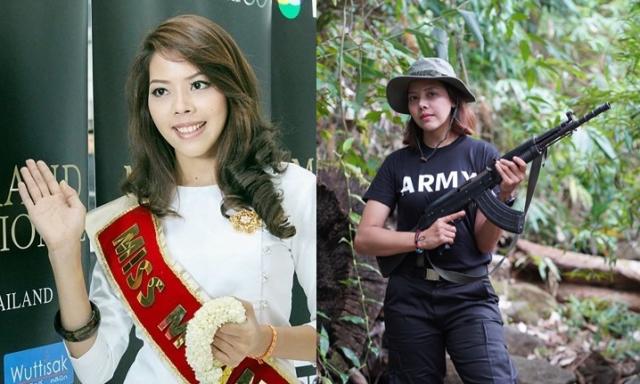 [영상]'반격할 때가 왔다' 왕관 벗고 소총 든 미스 미얀마