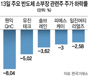 'K반도체 벨트' 구상에도…소·부·장株 털썩