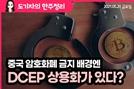 [도기자의 한 주 정리] 중국 암호화폐 금지 배경엔 DCEP 상용화가 있다?