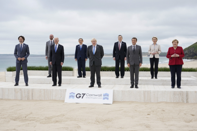 G7 중국 정면 비판...공동성명에 신장·홍콩·대만해협 문제 등 언급