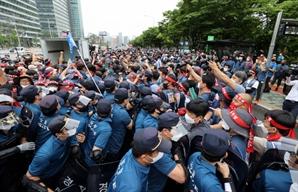 """경찰 """"여의도공원 집회 주도 전국택배노조원 사법처리"""""""