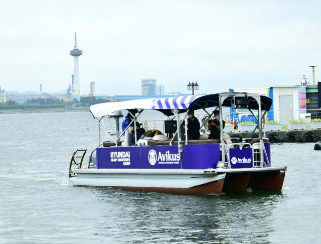 현대重 사내벤처 '아비커스', 국내 최초 완전 자율운항 선박 선보여