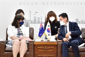 김윤일 부산시 경제부시장, 주한호주대사와 엑스포·수소·금융 등 협력의제 발굴 논의