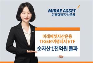 미래에셋 'TIGER 여행레저 ETF' 순자산 1,000억 돌파