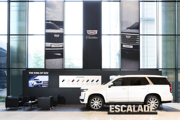캐딜락, 파르나스호텔에 'SUV의 왕' 신형 에스컬레이드 전시
