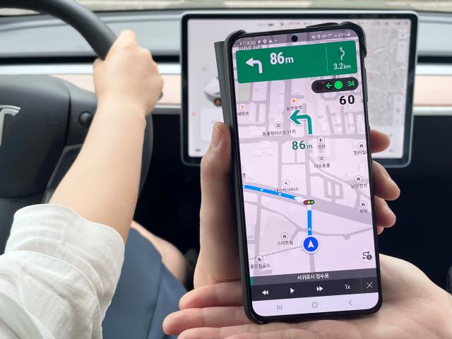 '렌터카 이어 스마트폰 앱에도' KT 원내비, 제주 909개 교차로 정보 실시간 제공