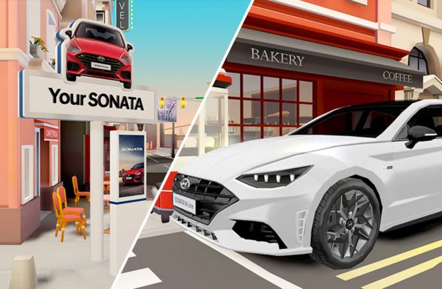 '메타버스로 시승하세요' 현대차, 가상공간 플랫폼 '제네토'서 쏘나타 N라인 가상 시승