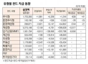 [표]유형별 펀드 자금 동향(6월 24일)