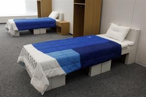 '올림픽 성관계 방지용' 조롱에 불똥 튄 종이 침대의 속사정