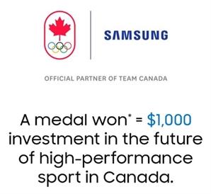 삼성전자, 캐나다 선수가 메달 딸 때마다 1,000달러 기부