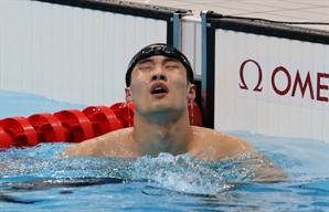 [도쿄 올림픽] 황선우, 150m까지 1위 역영…앞으로 더 기대되네
