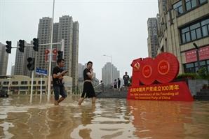 '역대급 홍수' 중국 정저우서 이번엔 코로나19 집단감염 발생