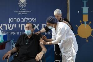 [사진]  '부스터샷' 하는 이스라엘 텔아비브 시장