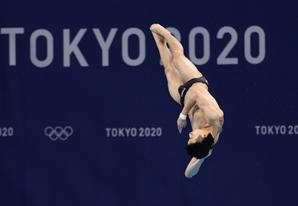 [사진] 한국 다이빙 역사 새로 썼다…우하람, 3m 스프링보드 4위