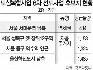 서소문 아파트·약수역 인근 등 4곳 고밀개발