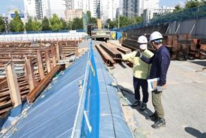 이현호 조달청 차장, 코로나19 폭염 대비 공사현장 안전 점검