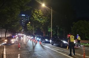 """""""제발 살려달라""""…벼랑 끝 자영업자들 한밤 차량시위"""