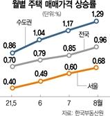 금리인상·대출제한 '무색'…집값 상승폭 10년만에 최고