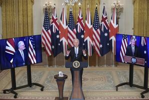 호주에 핵 잠수함 기술까지 전수…美 '中포위 전략' 속도