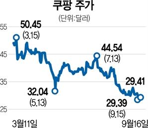"""""""중국 투자 손실 만회"""" 손정의, 쿠팡 주식 2조원 매각"""