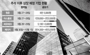 [시그널] 2차전지·반도체·중고차…추석 후 '알짜 IPO' 줄줄이 대기