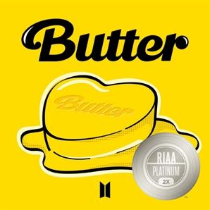 방탄소년단 'Butter' 美 RIAA 더블 플래티넘 인증…韓 가수 최다 기록